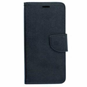 Housse-pour-HTC-U11-noire-folio-texturee