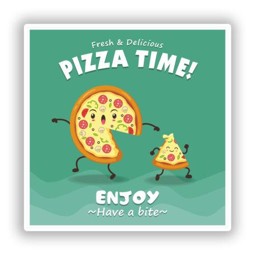 2 x pizza time vinyle autocollants voyage bagages #10733