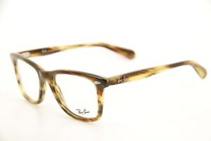 cf182f8cd7fdd New Authentic Ray Ban 5317 5385 Brown Olive Stripe 52mm Frames ...