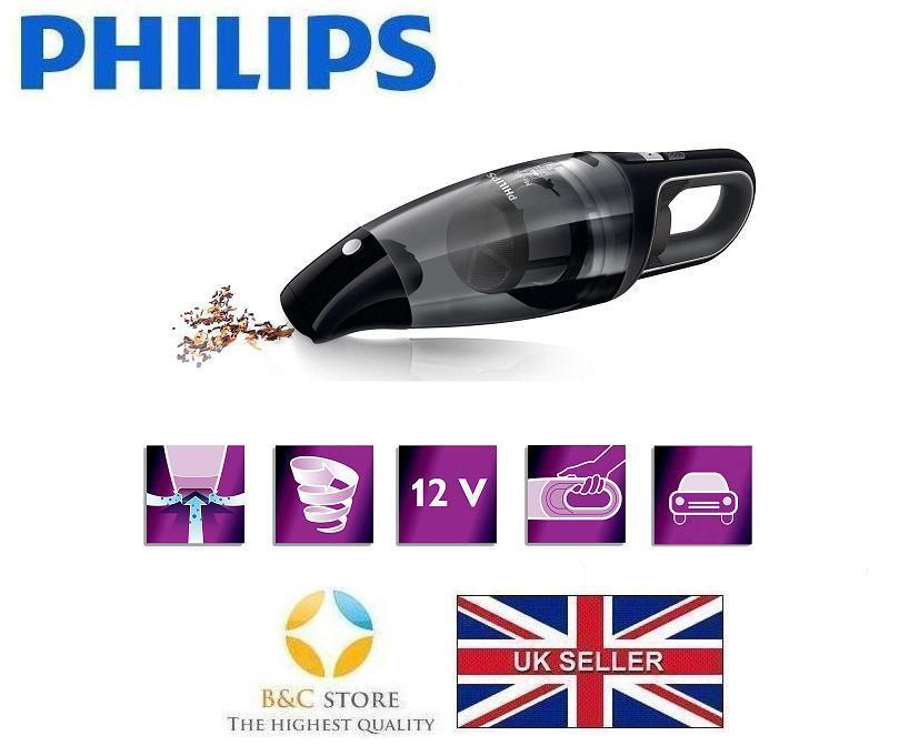 NEW Philips MiniVac FC6141 01 Handheld VACUUM CLEANER bagless cyclonic car plug