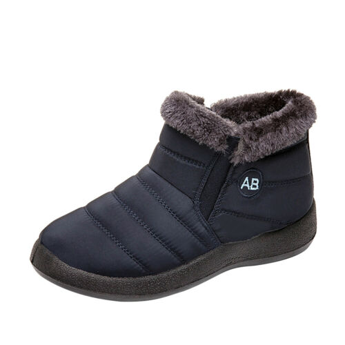Fashion Women Shoes Warm Wool Lining Flat Ankle Snow Boots For winter 5.5-9.5