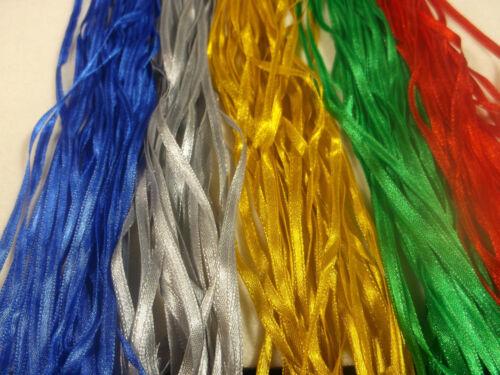 50m NARROW RIBBON Craft Ribbon COLOURS OF CHRISTMAS