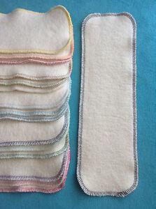 12 x 4 Hemp Organic Cotton Fleece Cloth Diaper Liners Doublers Inserts Soaker