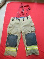 Mfg 2011 Morning Pride Fire Fighter Turnout Pants 46 X 28 Bunker Gear Suspenders