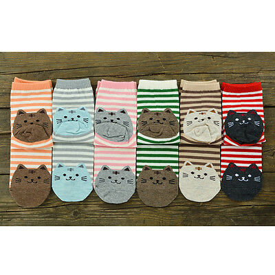 Korean Style Women Fun Hosiery Lady Girls Fashion Cartoon Cat cotton Socks warm