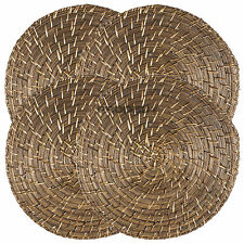 Set of 4 35cm Round Rattan BambooPlacemats Serving Mats Table Place Settings