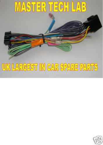 Kenwood DNX7240BT DNX-7240BT DNX7260BT DNX-7260BT Power Loom Wiring Lead ISO