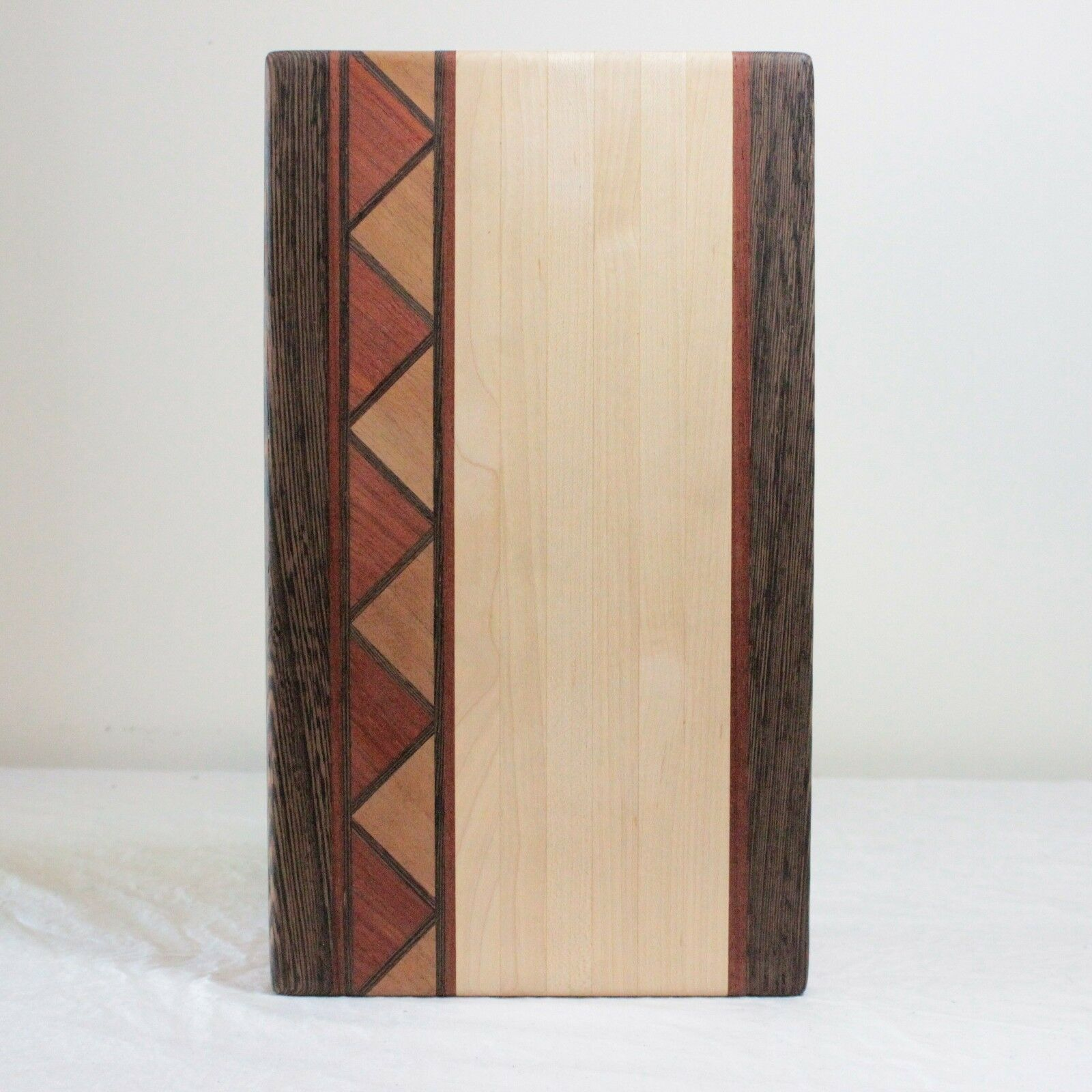 Handmade Wood Cutting Board Segmented C. Daugherty 2011 Aztec Tribal 13  x 7.5