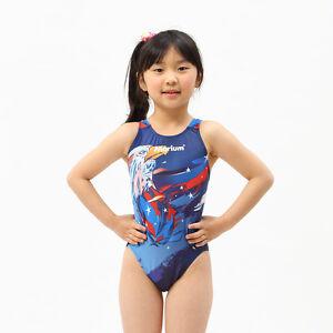 339114143d617 Image is loading Kids-Racing-Swimming-Suit-Cute-Girl-swimwear-Children-