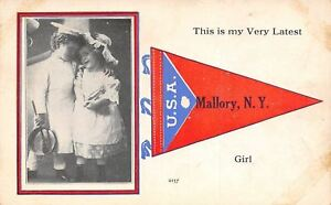 034-My-Very-Latest-Girl-034-in-Mallory-New-York-Victorian-Children-1913-Pennant-PC