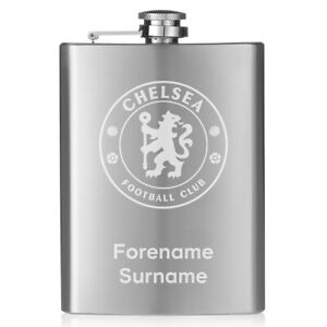 AgréAble Chelsea F.c - Personalised Hip Flask (crest)