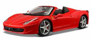 Bburago-1-24-Ferrari-458-Spider-Diecast-Model-Sports-Racing-Car-Vehicle-Toy