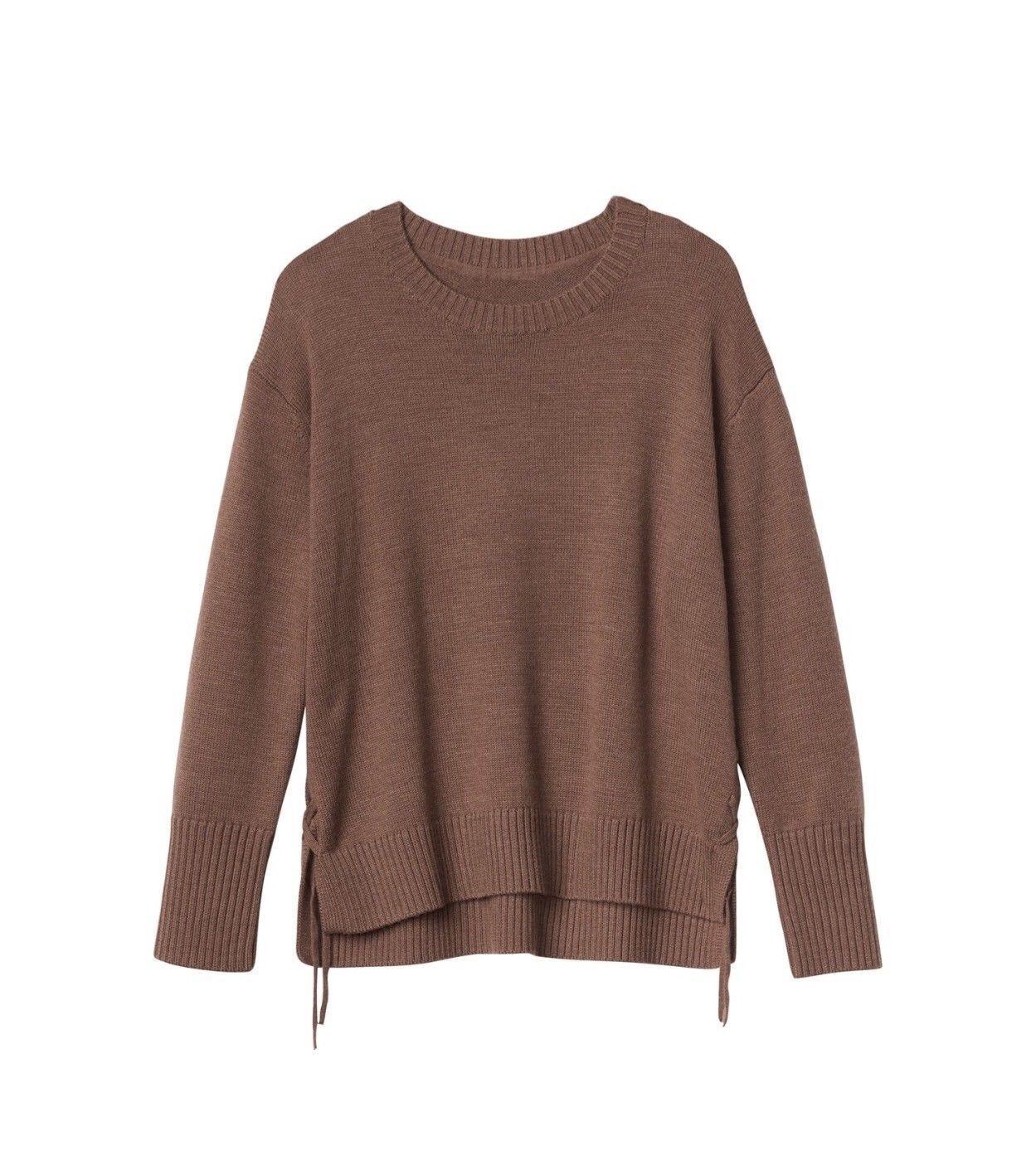 ATHLETA Merino Nopa Sweater,  NWT, XXS, Burnished Bronze, 100% Merino Wool