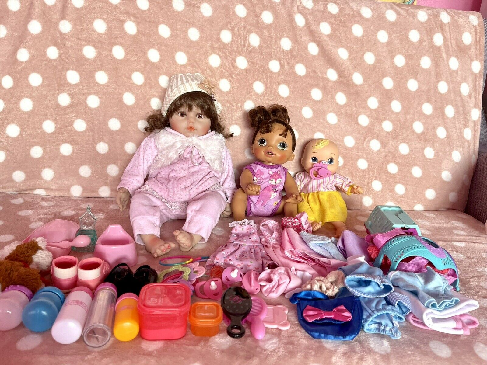 reborn toddler DollBaby Allie used Look New With Accessories All Good Condition