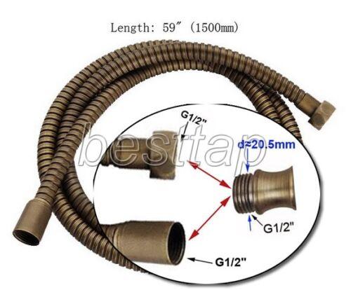 "59/"" 1500mm Antique Brass Extra Long Handheld Shower Head Pipe Hose sba024"