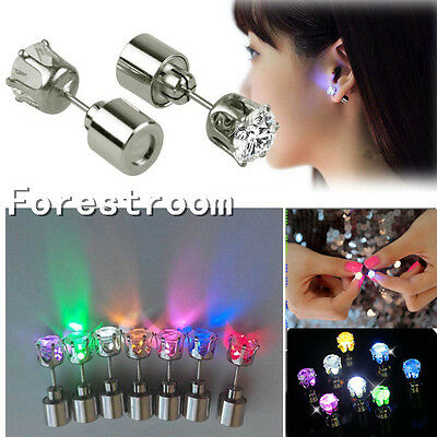 1 Pcs Light Up Fashion Jewelry LED Earring Ear Stud Dance Party Accessories
