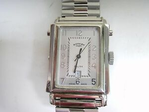 STAINLESS-STEEL-ROTARY-DUAL-DIAL-WATCH-QUARTZ