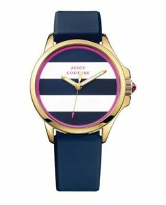 Juicy-Couture-Women-039-s-1901222-Jetsetter-Blue-Silicone-Watch
