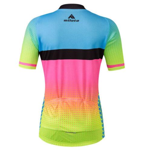 Reflective Women/'s Biking Cycling Jersey Bicycle Bike Short Sleeve Shirts S-5XL