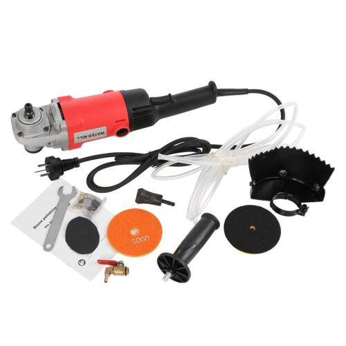 1400W 220V Electric Stone Wet Polisher Variable Speed Hand Grinder Water Mill MS
