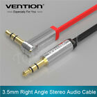 1.5M 3.5mm Jack Audio Cable Male To Male 90 Degree Right Angle Flat Aux Cable