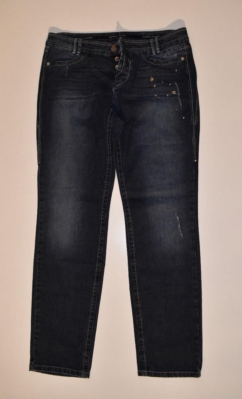 MARC CAIN  Jeans Hose N4 40 aktuell - Pants Straight mit Klunker Deko