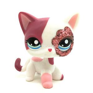 Littlest pet shop rose et blanc brillant court cheveux - Petshop chaton ...