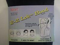 Sure Foot/due North E-z Lok Hood Winter Neck Warmer Hat (black Fleece)