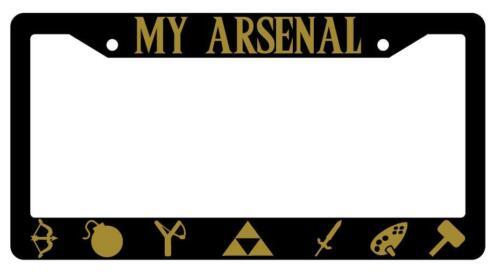 My Arsenal Black Plastic License Plate Frame Legend Of Zelda