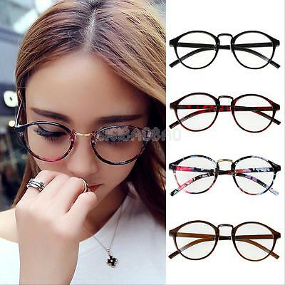 Fashion Unisex  Retro Round Frame Glasses Vintage Clear Lens Eyeglasses Hipster