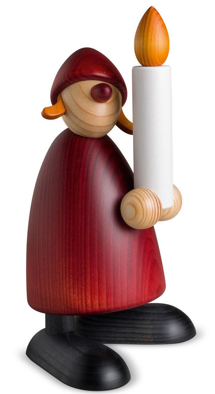 Björn Köhler Weihnachtsfrau mit Kerze 19cm Großfigur Erzgebirge Weihnachstmann
