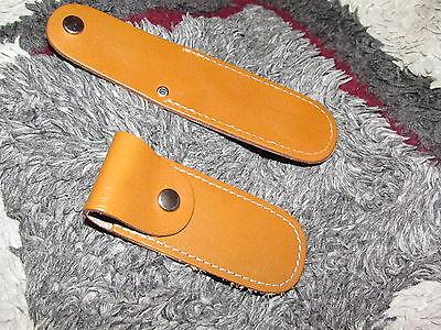 Taschenmesser Solingen im Geschl.Zustand 9 cm. ETUI  Echt Leder für WENGER etc