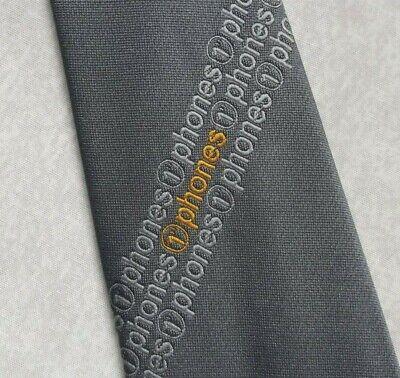 Vintage Cravatta Da Uomo Cravatta Crested Logo Aziendale T Telefoni Da Tootal 1980s Mobile-mostra Il Titolo Originale Fabbricazione Abile
