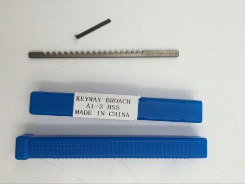 Keyway Broach 3mm A Push Type Metric Size Cutter HSS Borach/&Shim CNC Router Tool