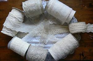 Mixed-Lace-IVORY-CREAM-3-Metre-Lengths-Webster-Polyester-6-Variety-Choice-WB