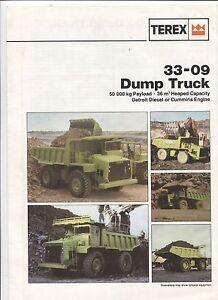 N-8445-depliant-TEREX-33-09-Dump-truck-october-1984