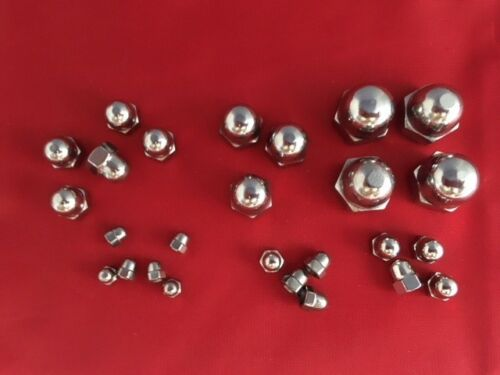 Stainless Steel Dome Nuts Acorn Nut Cap A2 for Bolts /& Screws M3 M4 M5 M6 M8 M10