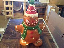 """Ceramic gingerbread man cookie jar """"Tis So Sweet to Trust in Jesus"""""""