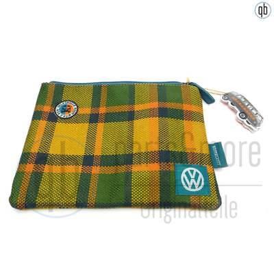 100% Wahr Original Vw Stiftebeutel Tasche T2 Camping Bus Westfalia Muster 23 X 17,5cm Aromatischer Geschmack
