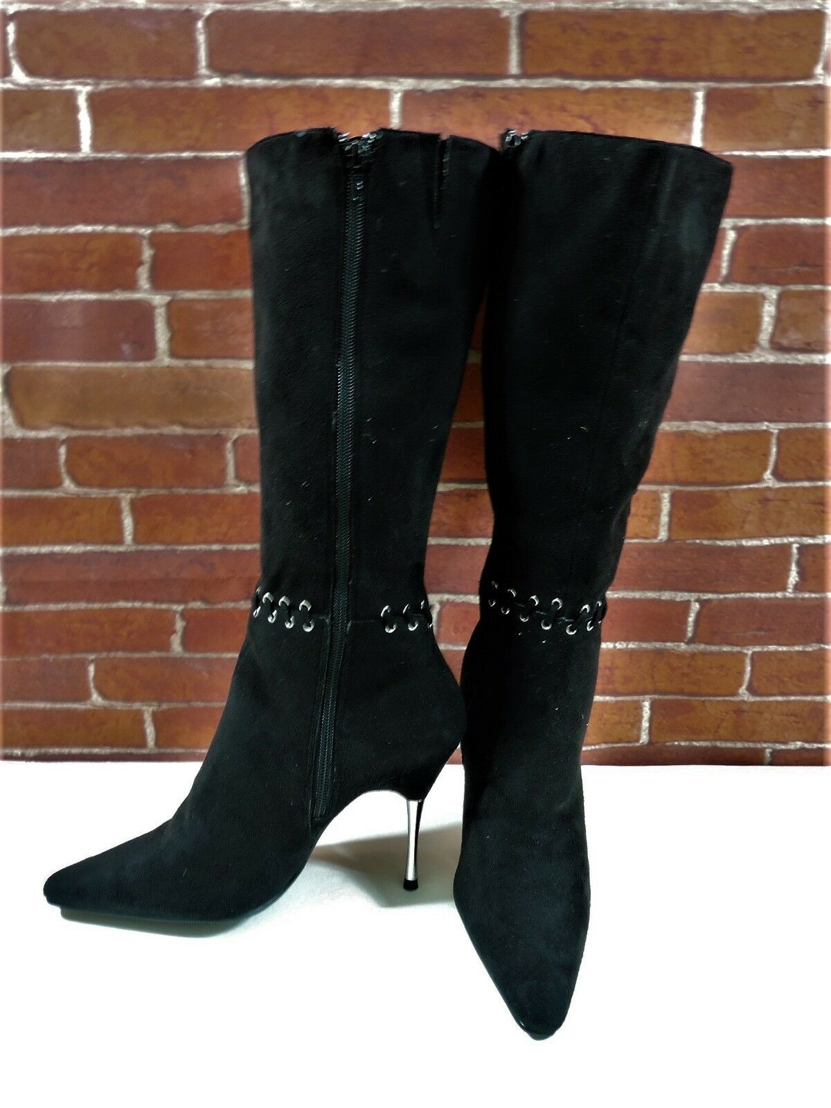 Womens Ladies Black Knee High Boots - Size  UK 5  EU 38
