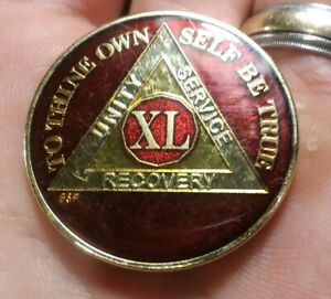 Steps to Recovery AA coins 40 Year Bronze AA Medallions sobriety coins AA chips