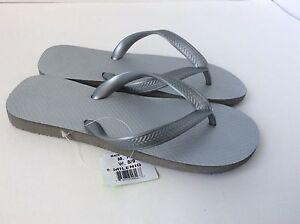 5890362d1bf7 New Size 8 9 Silver Pure Rubber Flip Flops Cariris Brazil Type ...