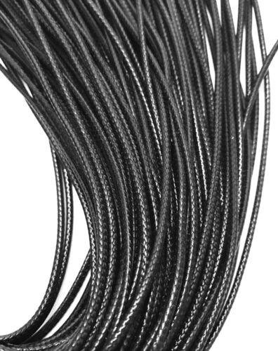 Encerado Cable Negro 2MM Collar cadena con langosta broche de 17 pulgadas
