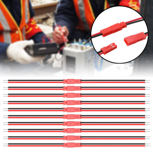 40Pcs JST 2Pin Connector Male Female Plug Cable Wire For Battery LED Light US*