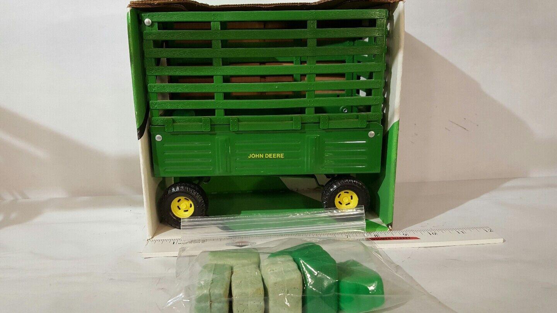 Ertl John Deere Bala Lanzar Wagon 1/16 acero prensado y plástico granja implementar