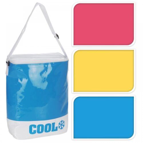 Nouveau isotherme 8 litres en cuir synthétique picnic camping bbq boissons nourriture glace refroidisseur sac