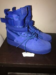 Details about Nike SF Air Force 1 Mens 864024 401 Game Royal Blue Nylon Suede Shoes Size 9.5