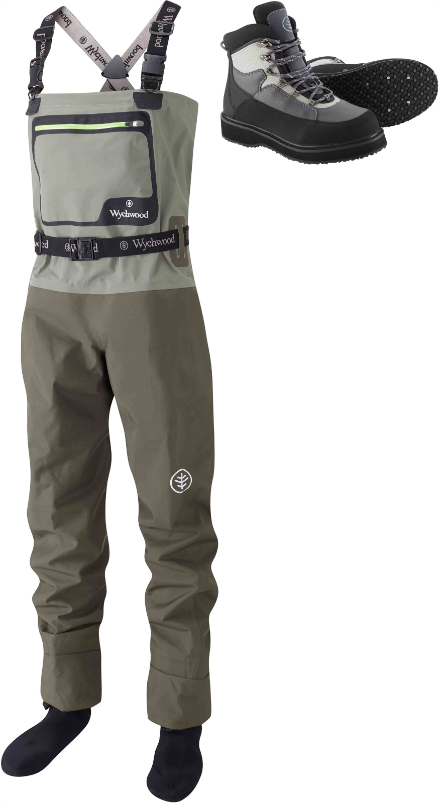 Wychwood New SDS Gorge Breathable Breathable Breathable Chest Fly Fishing Wader + Free Wading Stiefel 6cdc4c