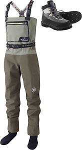 Wychwood New SDS Gorge Breathable Chest Fly Fishing Wader + Free Wading botas