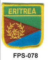 2-1/2'' X 2-3/4 Eritrea Flag Embroidered Shield Patch - Officially Licensed